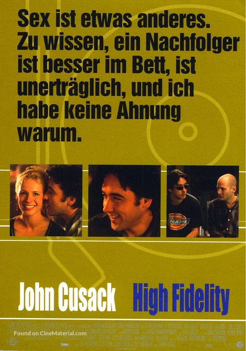 High Fidelity - German Movie Poster