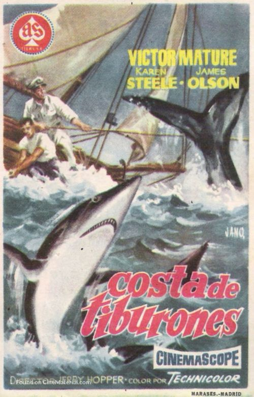 The Sharkfighters - Spanish Movie Poster