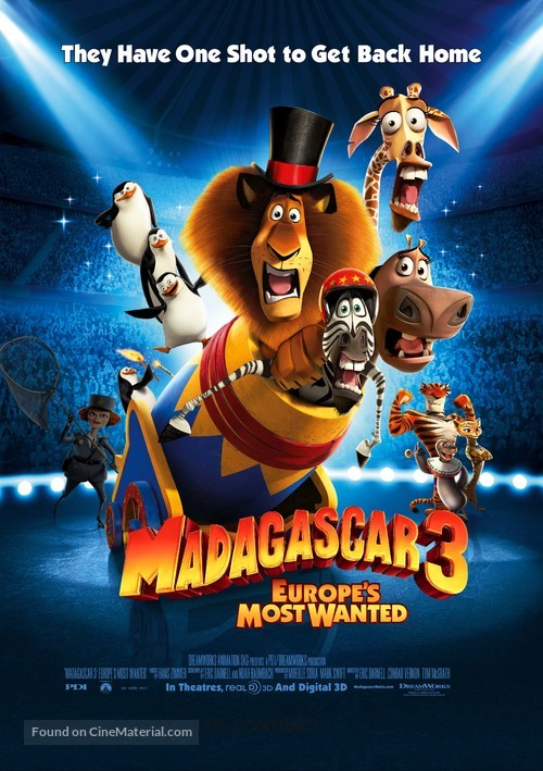 Madagascar 3: Europe's Most Wanted - Movie Poster