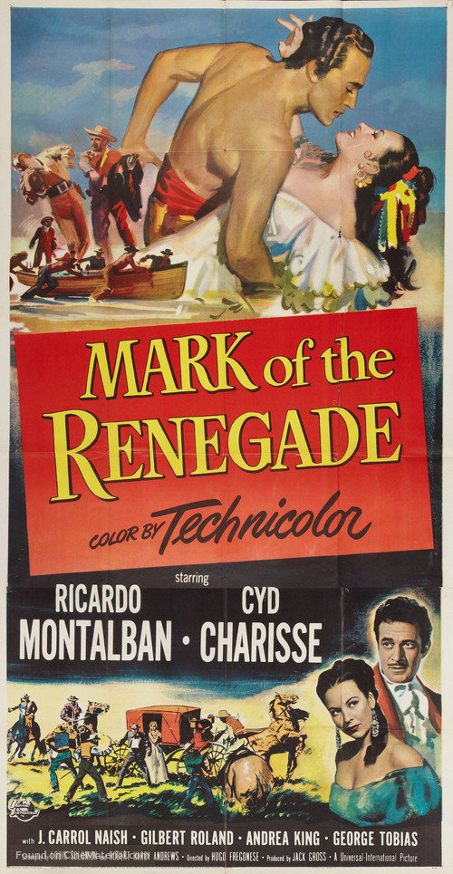 The Mark of the Renegade - Theatrical movie poster