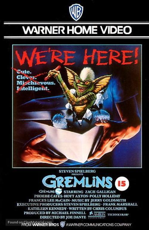 Gremlins - British VHS movie cover