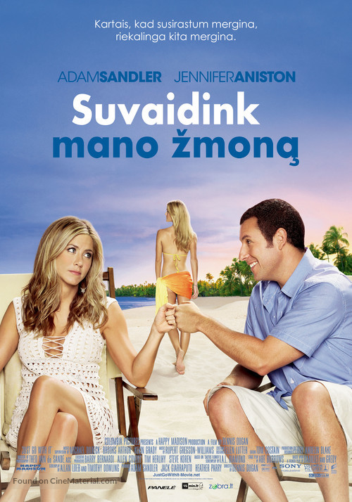 Just Go with It - Lithuanian Movie Poster