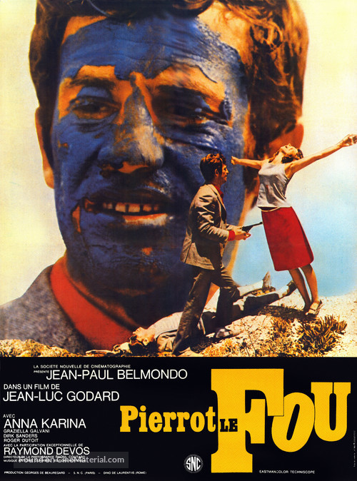 Pierrot le fou - French Movie Poster