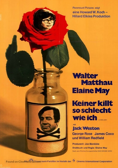 A New Leaf - German Movie Poster