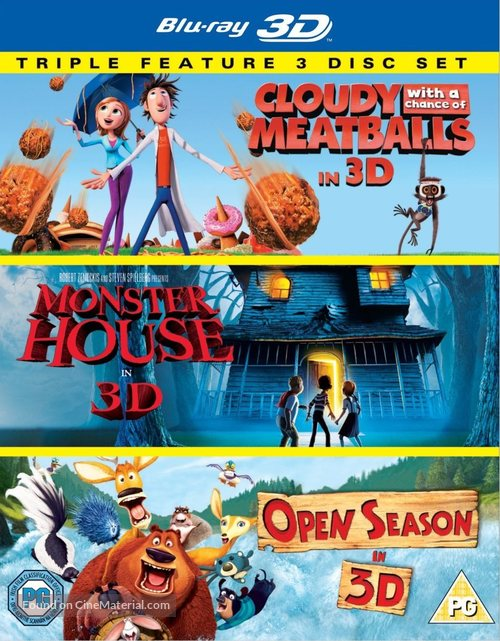 Cloudy With A Chance Of Meatballs 2009 British Blu Ray Movie Cover