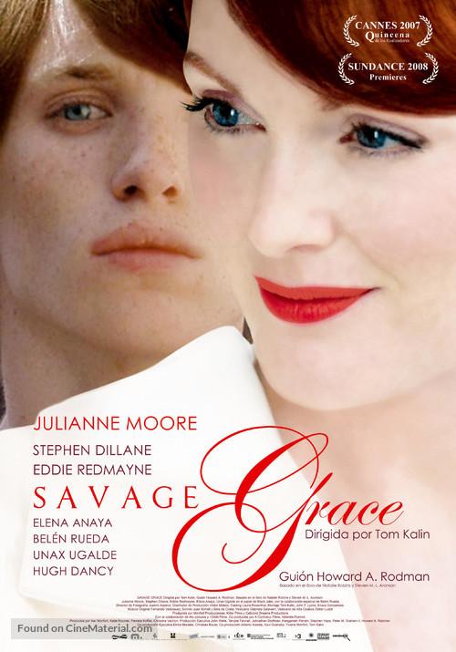 Savage Grace - Spanish Movie Poster