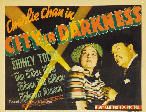Charlie Chan in City in Darkness - Movie Poster
