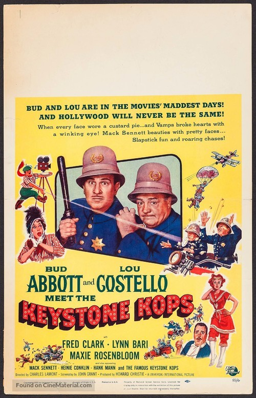 Abbott and Costello Meet the Keystone Kops - Movie Poster