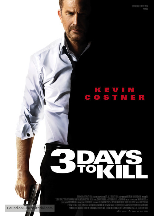 3 Days to Kill - French Movie Poster