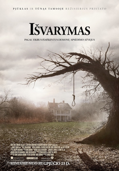 The Conjuring - Lithuanian Movie Poster