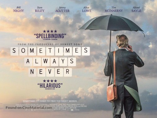 Sometimes Always Never - British Movie Poster