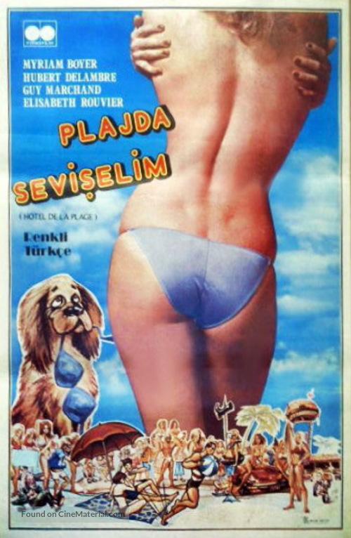 L'hôtel de la plage - Turkish Movie Poster