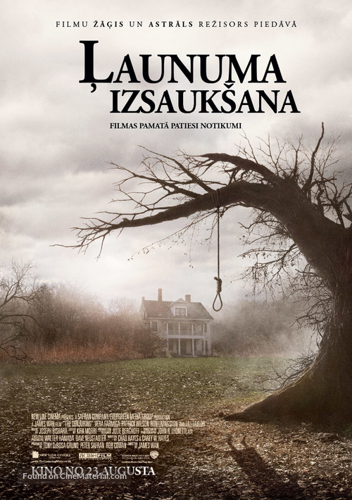 The Conjuring - Latvian Movie Poster