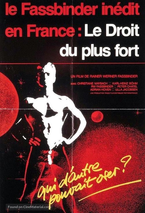 Faustrecht der Freiheit - French Movie Poster