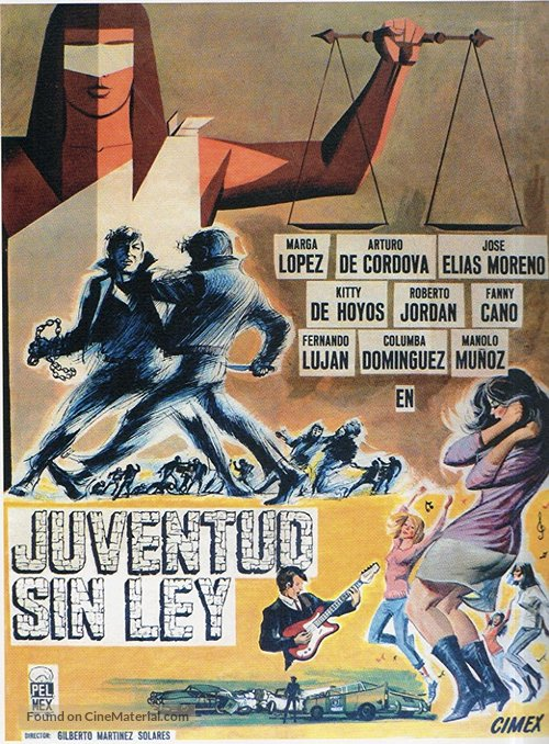 Juventud sin ley - Mexican Movie Poster