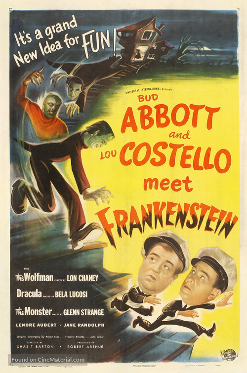 Bud Abbott Lou Costello Meet Frankenstein - Movie Poster