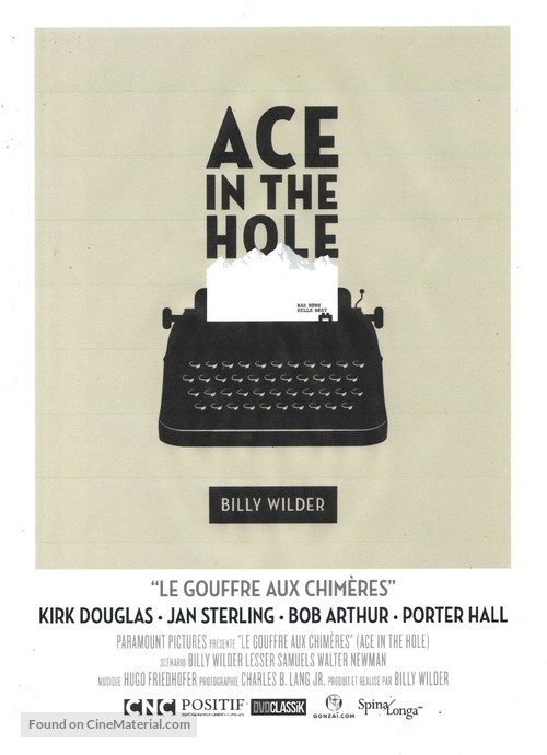 Ace in the Hole - French Movie Poster