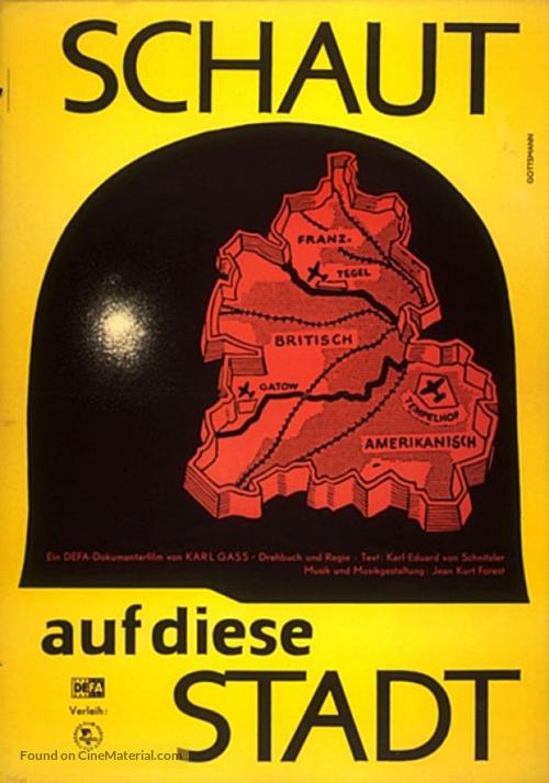 Schaut auf diese Stadt - German Movie Poster