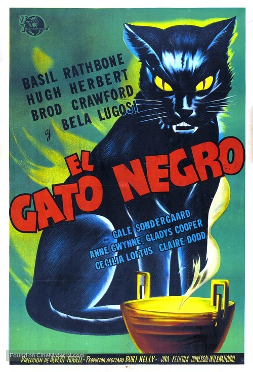 The Black Cat - Argentinian Movie Poster