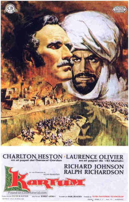 Khartoum - Spanish Movie Poster
