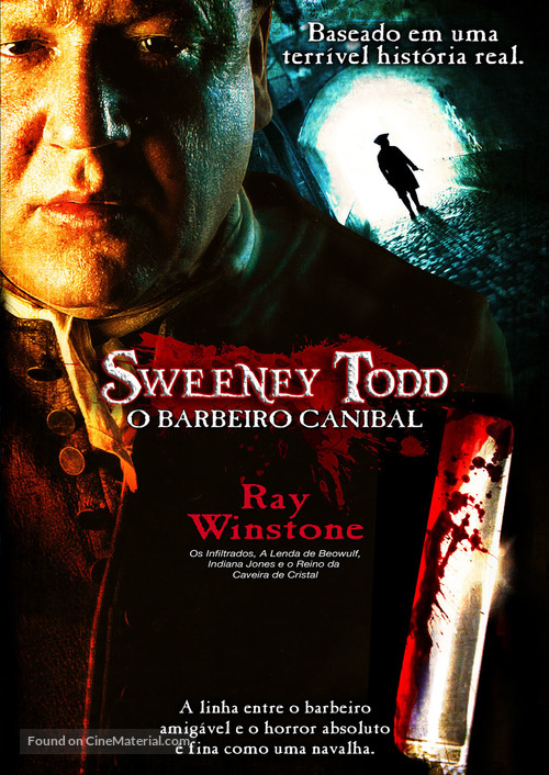 Sweeney Todd - Brazilian DVD movie cover