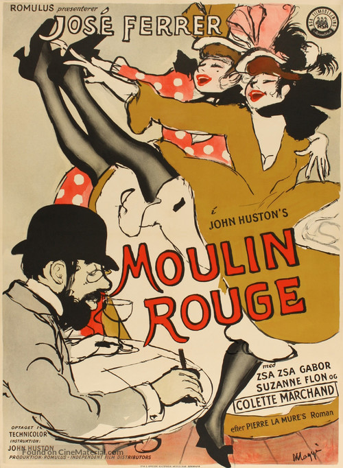 Moulin Rouge - Danish Movie Poster