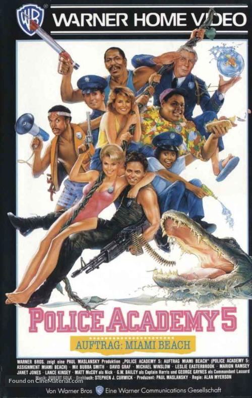 Police Academy 5: Assignment: Miami Beach - German Movie Cover