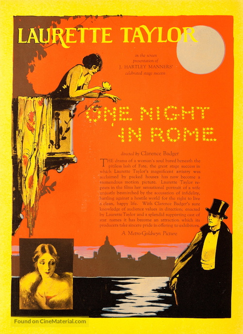 One Night in Rome - poster