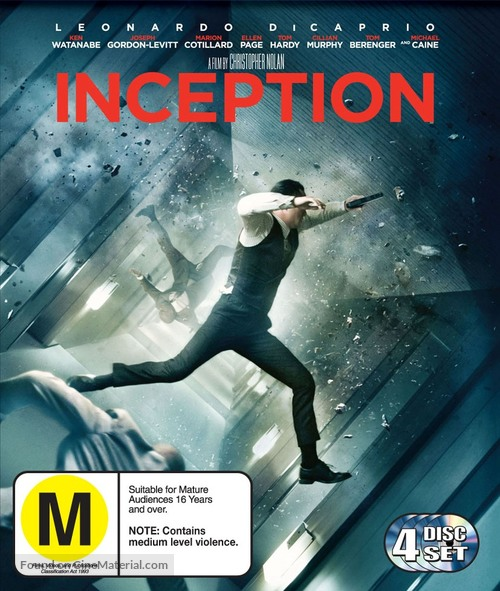Inception - New Zealand Blu-Ray cover