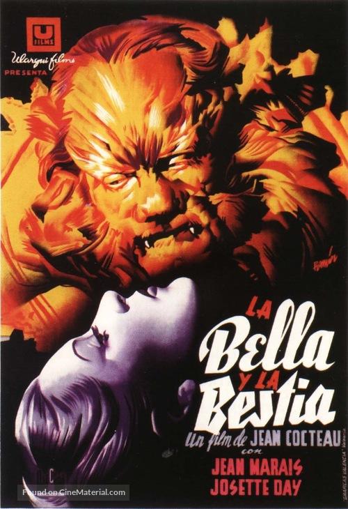 La belle et la bête - Spanish Theatrical movie poster