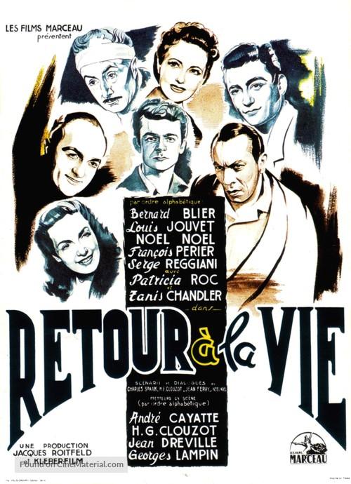 Retour à la vie - French Movie Poster