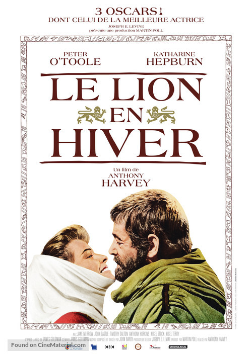 The Lion in Winter - French Re-release poster