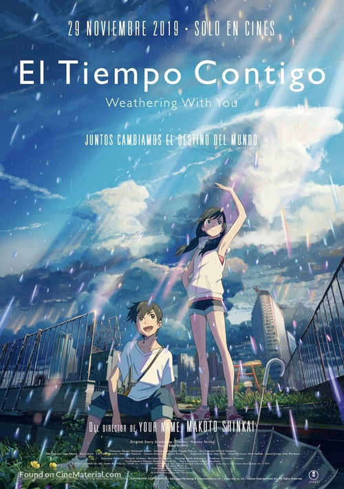 Weathering with You - Spanish Movie Poster