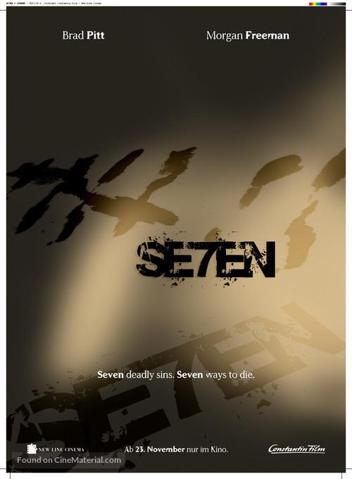 Se7en - German Movie Poster