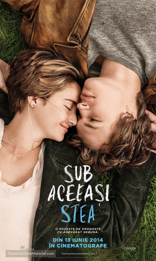 The Fault in Our Stars - Romanian Movie Poster