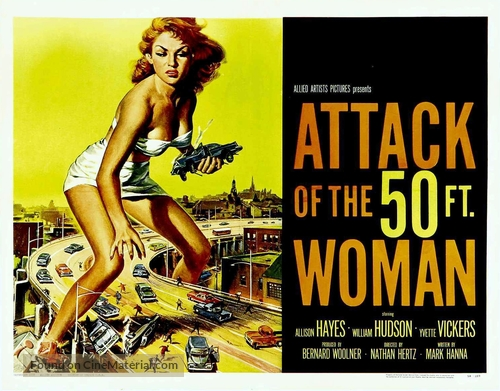 Attack of the 50 Foot Woman - Theatrical movie poster