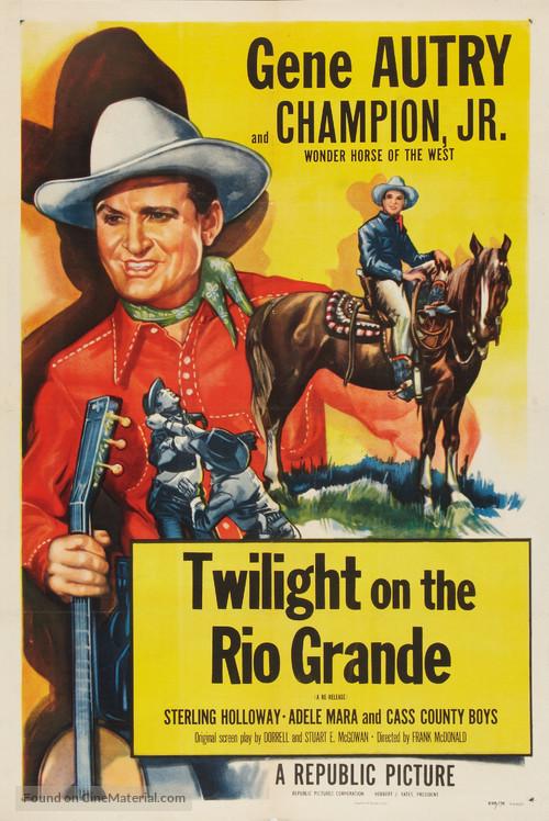 Twilight on the Rio Grande - Re-release movie poster