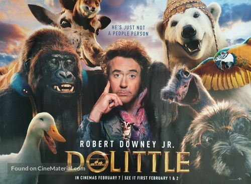 Dolittle - British Movie Poster