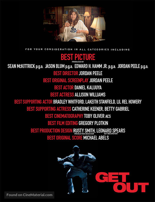 Get Out - For your consideration movie poster