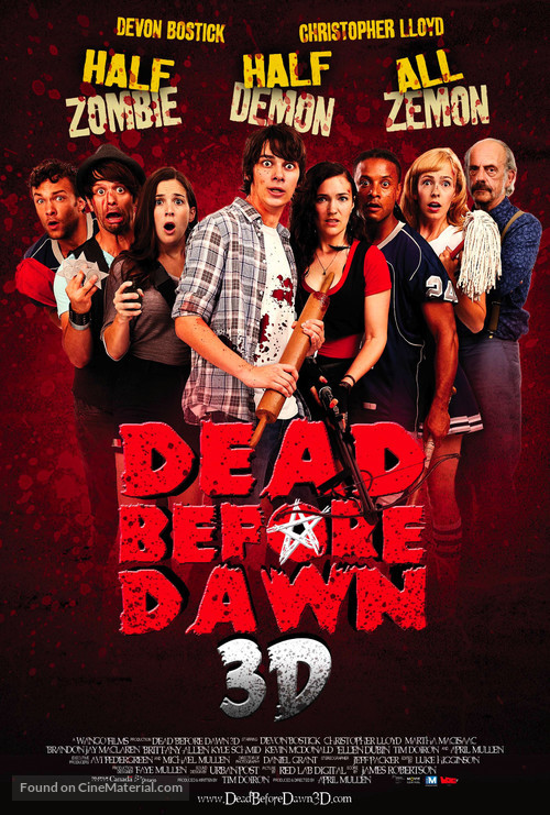 Dead Before Dawn 3D - Canadian Movie Poster
