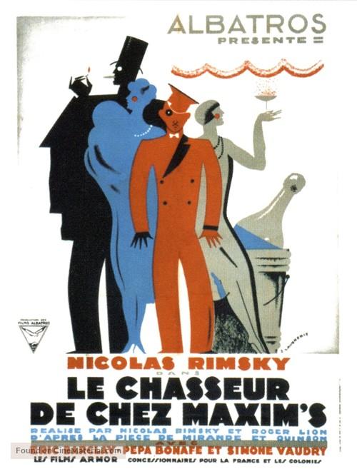 Le chasseur de chez Maxim's - French Movie Poster