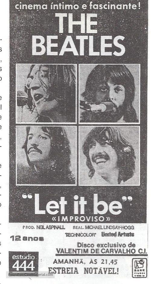 Let It Be - Portuguese poster