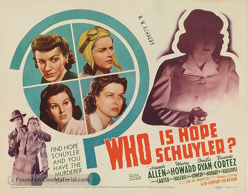 Who Is Hope Schuyler? - Movie Poster
