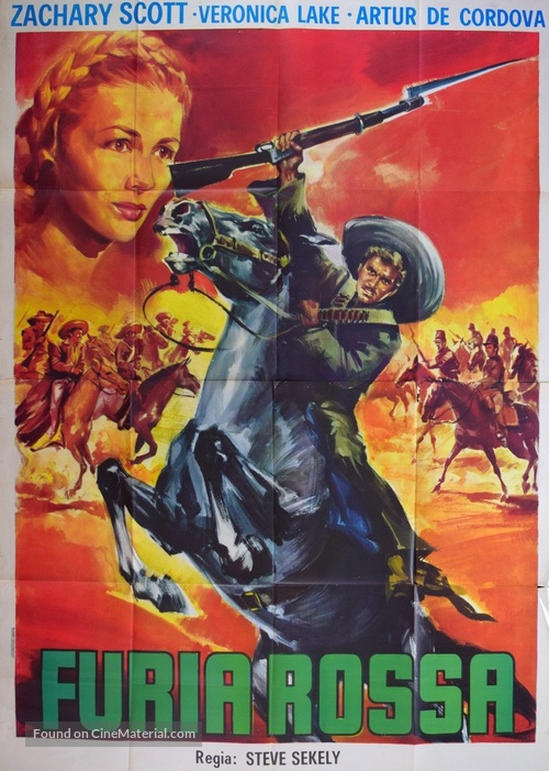 Furia roja - Italian Movie Poster