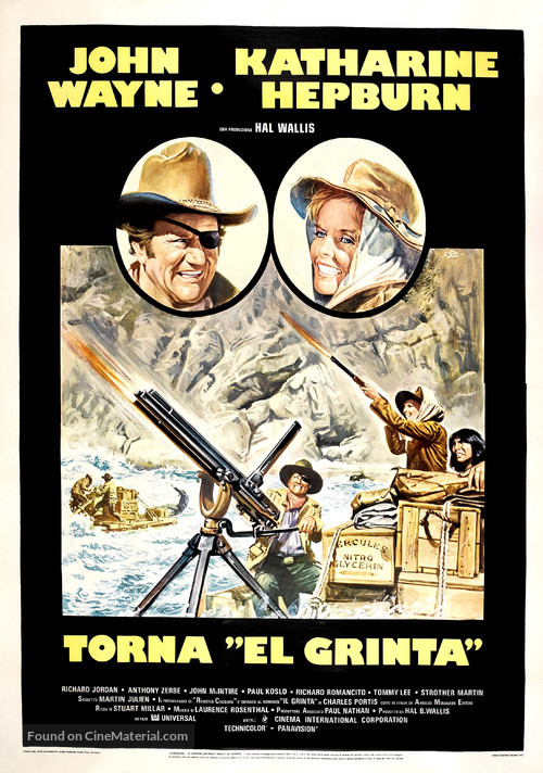 Rooster Cogburn - Italian Movie Poster