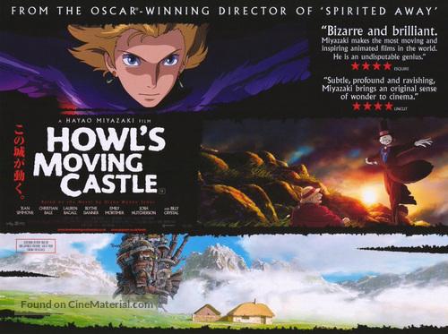 Hauru no ugoku shiro - British Movie Poster
