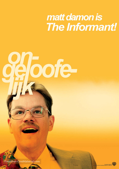 The Informant - Dutch Movie Poster