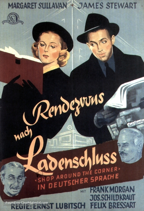 The Shop Around the Corner - German Movie Poster