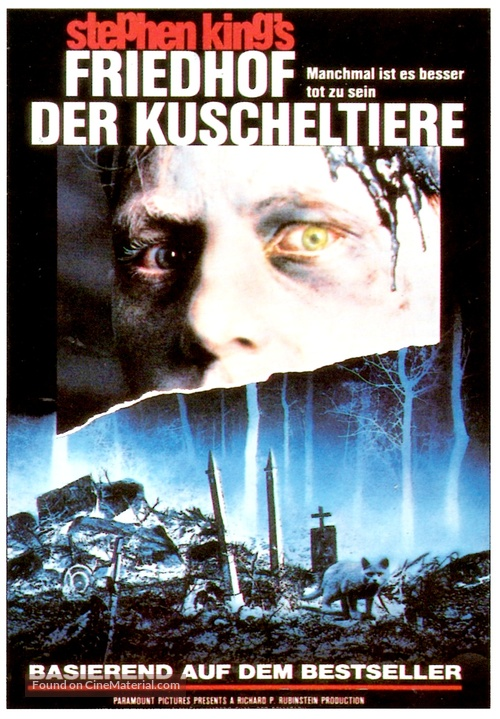 Pet Sematary - German VHS movie cover