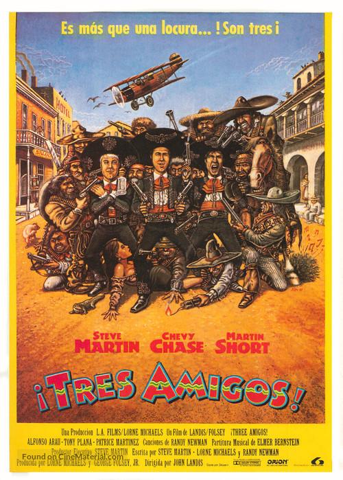 Three Amigos! - Spanish Movie Poster